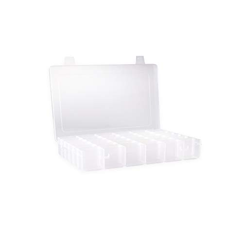 Clear Plastic Jewelry Box Organizers Storage Container With Adjustable Dividers 36 Grids (Best Tackle Box For Makeup)