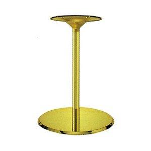 e-kanamono テーブル脚 フラットS7460 ベース460φ パイプ42.7φ 受座280φ ゴールドメッキ 高さ700mmまで B012CCB3I6