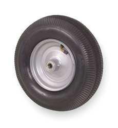 Industrial Grade 1NWU9 Pneumatic Wheel, 12 In, 2 Ply, 290 Lb Cap