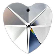 - Asfour 40mm Crystal Heart Prisms #870-40