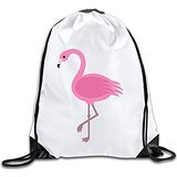 Discovery Wild Pink Flamingos Polyester Drawstring Backpack Rucksack Shoulder Bags Gym Bag Home Travel Sport Storage Use