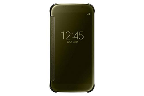 Genuine Samsung Clear View Cover Flip Case for Samsung Galaxy S6 - Gold (EF-ZG920BFE)