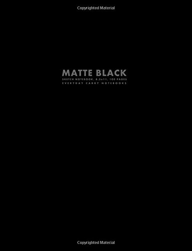 Download Matte Black Sketch Notebook, 8.5x11, 100 Pages ebook