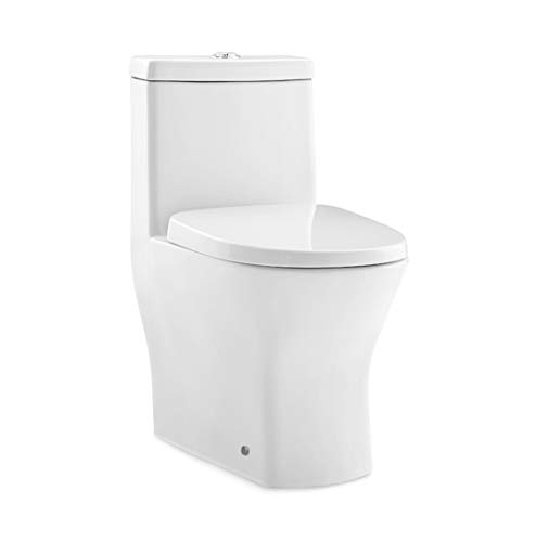 "Swiss Madison SM-1T257 Sublime II Compact 1-Piece Toilet 24"" Long Dual Flush 0.8/1.28 GPF"