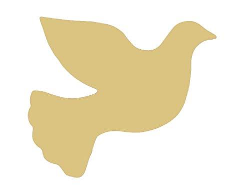 Dove Cutout Unfinished Wood Bird Peace Flight Zoo Animal MDF Shape Canvas Style 2 (6