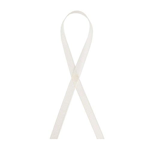 Buy white organza ribbon necklace