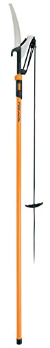 (Fiskars 393951-1001 Extendable Pole Saw & Pruner, 1 Inch Cut Capacity, Orange, 393, Pack of 1)
