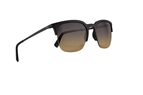 Armani Exchange AX4081S Sunglasses Matte Black w/Light Yellow Gradient Grey Lens 54mm 8029L7 AX 4081S