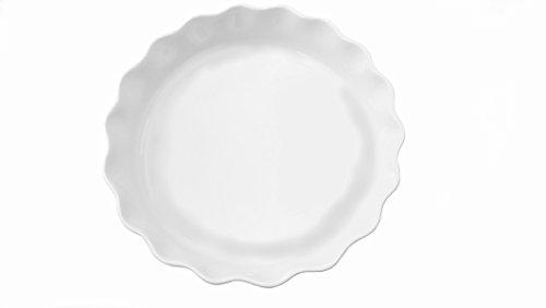- Cook Pro White Ruffled Stoneware & Bakeware Pie Dish, 10