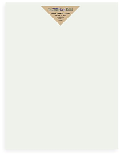 100 Soft Off-White Translucent 17# Thin Sheets - 11