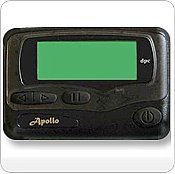 Apollo Gold AL25 Alphanumeric Pager Hand Programmable by Apollo
