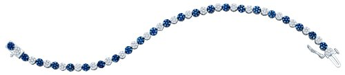 2 Carat BLUE DIAMOND FASHION BRACELET by Jawa Fashion