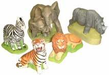 Supercast Moulds ONLY 5 x Safari Animals Reusable Latex Rubber Moulds