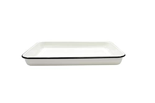 Tablecraft 80012 Enamelware Serving Tray, 16 1/4