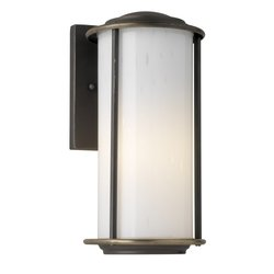 Forecast F847550E1 Bal Harbour Energy Smart 1 Light Outdoor Wall Light in Bronze Patina with White Bubble glass (Bal Harbour 1)