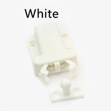50pcs 56x40mm Wholesale Beetles Shape Kitchen Cupboard Door Touch Cabinet Door Catch Push To Open Drawer Latch of Release ABS - (Color: White)