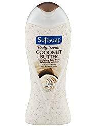 Softsoap Body Butter Coconut Scrub, Body Buff Wash 15 oz (Pack of 3)