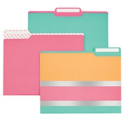 Divoga(R) Fashion File Folders, 9 1/2in. x 11 1/2in., Letter Size, Multicolor, Pack Of (Fashion Folders)