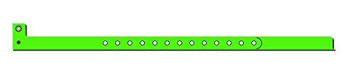 Mayflower Distributing Company 100 Count Plastic Wristband, 1/2'', Glow Green by Mayflower Distributing Company