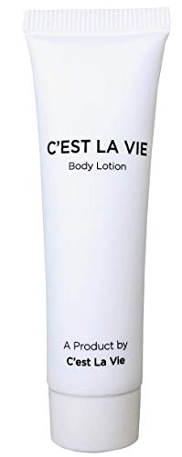 50 Bulk Pack - Fig & Olive Luxury Body Lotion By C'EST LA VIE - 22ml / 0.75 fl oz - Travel Guest & Hotel Amenities - Individual Clean White Tubes in Eco Responsible Packaging. Paraben & Cruelty Free