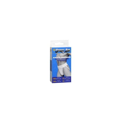 Athletic Supporter, White Medium 1 each by Sport Aid (Pack of 2)