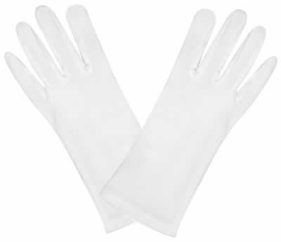 Deluxe Theatrical Gloves - Theatrical Gloves (white) Party Accessory  (1 count) (1 Pair/Pkg)