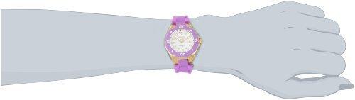 Invicta Women's 1618 Angel White Dial Lavender Silicone Watch - Beige Dial Rubber Strap