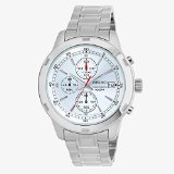 - Seiko SKS417 Chronograph Silver Dial Stainless Steel Mens Watch