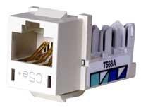 "HXJ5EOW25 - Hubbell XCELERATORâ""¢ Category 5e Universal Modular Jack, Off-White, 25 Pack"