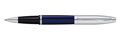Engraved / Personalized Cross Calais 'Chrome/Blue Lacquer' Selectip Rollerball Pen with Gift Box - Custom Engraving AT0115-3 by Marketfair (Image #3)