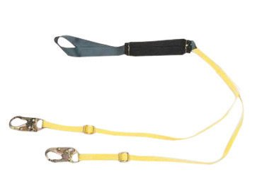 MSA Safety 10107207 FP5K Energy-Absorbing Tie-Back ANSI-Certified Adjustable Web Lanyard with Single-Leg, 36C Harness and FP5K Anchorage Connection