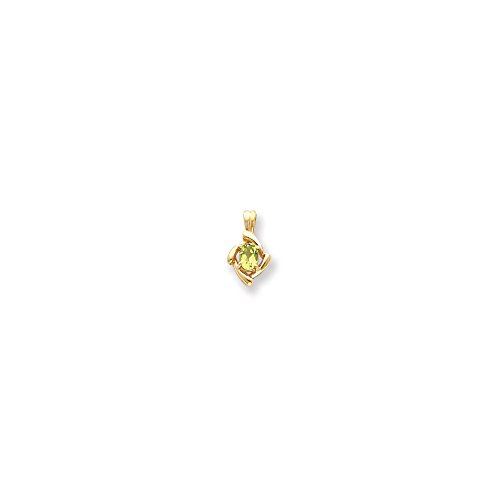 Real 14kt Yellow Gold gemstone pendant mounting
