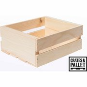 Crates and Pallet Small Wood Crate 11.75in x 9.5in x 4.75in by Houseworks