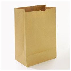 General SK1657 1/6 BBL Paper Grocery Bag, 57lb Kraft, Standard 12 x 7 x 17, (Case of 500 Bags) -