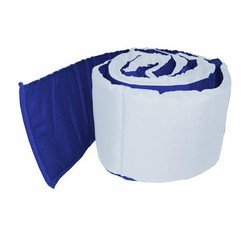18 x 36 Aqua//Yellow Babykidsbargains Reversible Solid Cradle Bumper