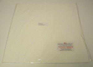 "Polypropylene 125 Micron Porous Sheet/Hydrophilic / 18"" x 18"" (457mm x 457mm) Sheet / 1/4"" (6.4mm) Thick / (1 Sheet)"