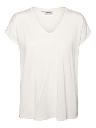 VERO MODA Damen Vmava Ss V-Neck Tee VMA Noos T-Shirt