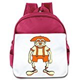 WLF Girl's And Boy's Children Kid's Backpack Pre School Bags Package Soft Clown Cartoon Pink