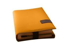 BookSkin safrangelb: trendige Buchhülle aus Mikrofaser mit integriertem Lesezeichen Barth & Bauer Non Books Non-Books Nonbooks