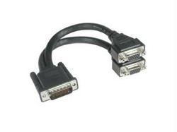 C2G 9in LFH-59 Male to (2) HD15 Female (Cables To Go Hd15 Graphics Card)
