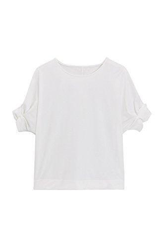 next Mujer Camiseta Mangas Recogidas Petite Top Ropa Blanco