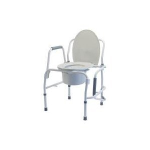 GF Health 6433A-2 Silver Collection Steel Drop Arm 3-in-1 Commode (Pack of 2)