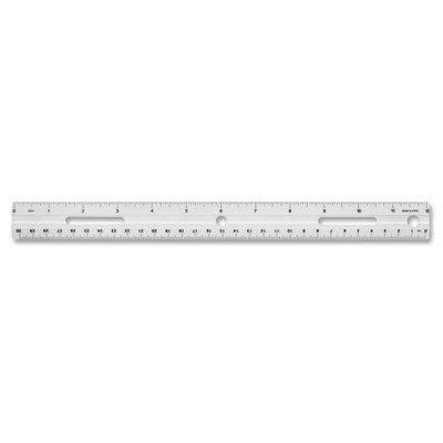 Plastic Ruler, Beveled Edges, Clear [Set of 12] (Beveled Side Panels)