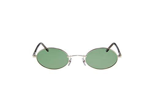 KAIZER Handmade Retro Oval Sunglasses for Unisex  Model: MYRA Green Full UV  Protection