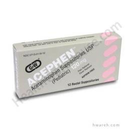 Acetaminophen Suppositories  120Mg    12 Suppositories