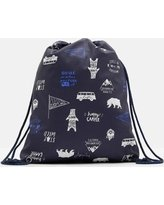 Price comparison product image Joules JNR Rubberbag Drawstring Bag Navy Happy Camper