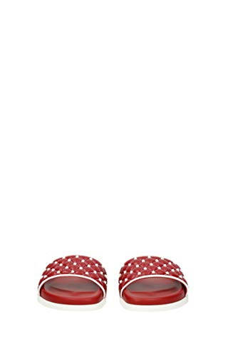 Pelle Ciabatte GARAVANI VALENTINO e EU Rosso Donna 2S0F01RVH Zoccoli HgXOq