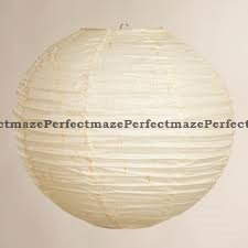 Perfectmaze 12 Piece Round Chinese Paper Lantern With LEDs for Wedding, Parties, Engagements, Baby Showers, and Special Events Decoration 4 Sizes / 20 Colors+ (12'' (Inch), Ivory)