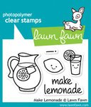 Lawn Fawn - Clear Acrylic Stamps - Make Lemonade (Lawn Fawn Stamps Acrylic)