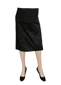 Lilo Maternity Short Sateen Cotton Pencil Skirt (XX-Large (29